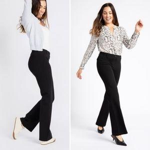 Betabrand Classic Dress Pant Boot Cut Yoga Black
